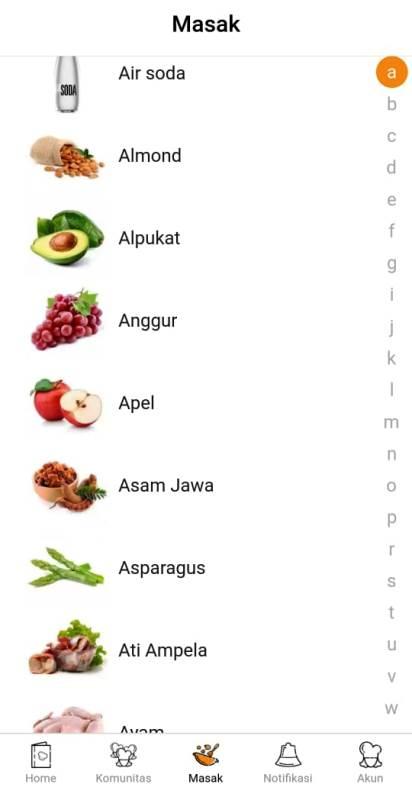 SS Aplikasi Yummy App, yang mudah menemukan resep terkini dan favorit
