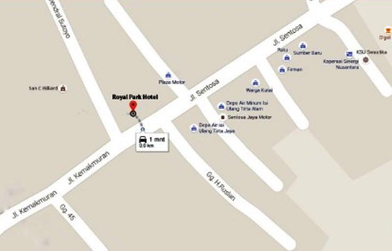 Lokasi Hotel Royal Park