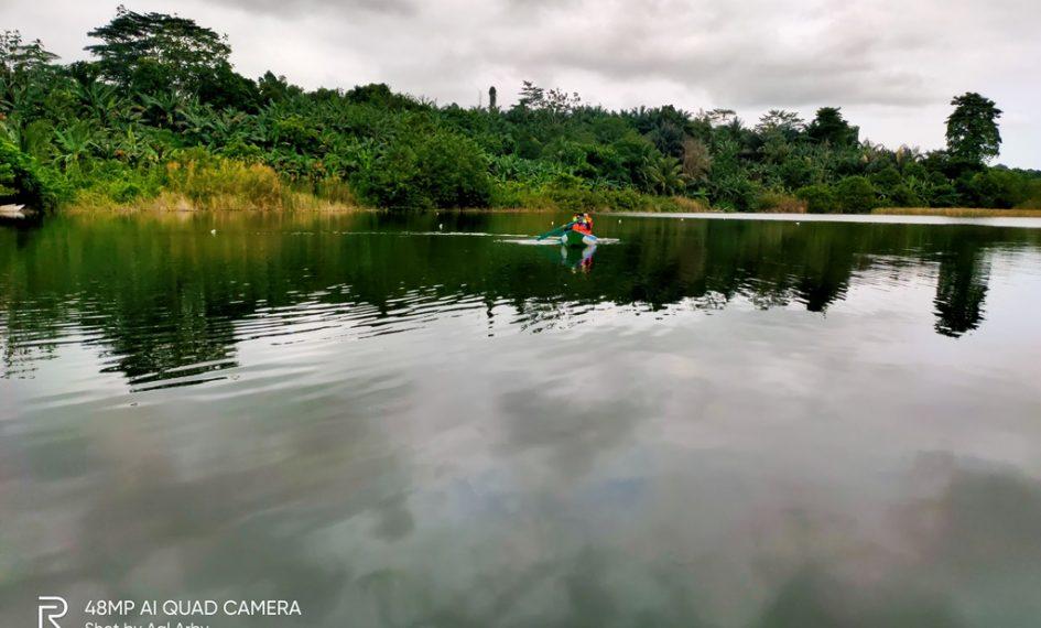 Taman Gubang, memanfaatkan air lubang tambang