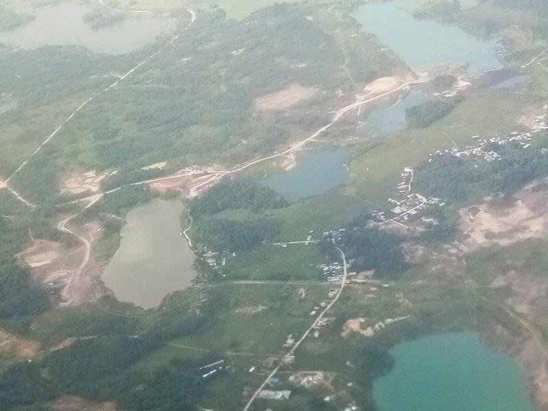 Foto udara menampakkan praktek tambang wilayah Samarinda, diambil 20201 I Dokpri